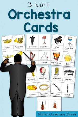 3-part Cards: Orchestra Cards!