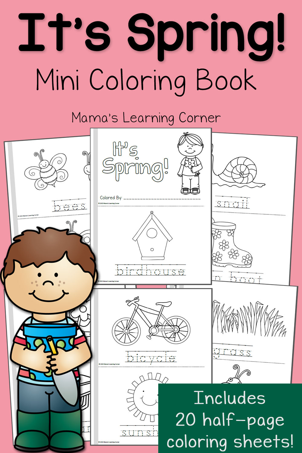 Spring Coloring Pages - Mamas Learning Corner | coloring pages for kindergarten