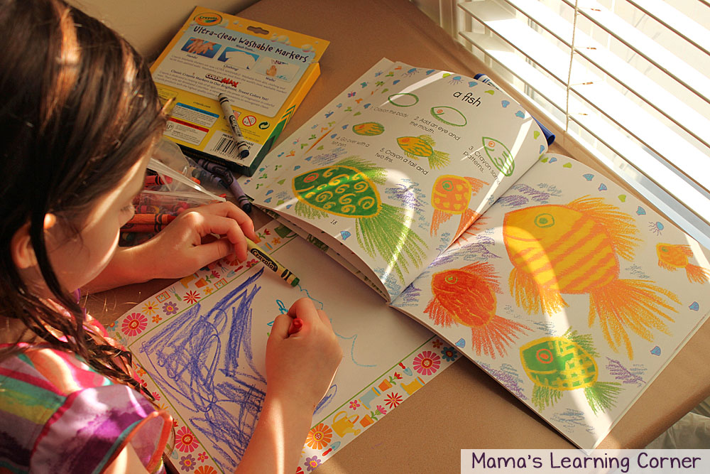 Activity Baskets for Kids: I Can Draw Animals Ocean