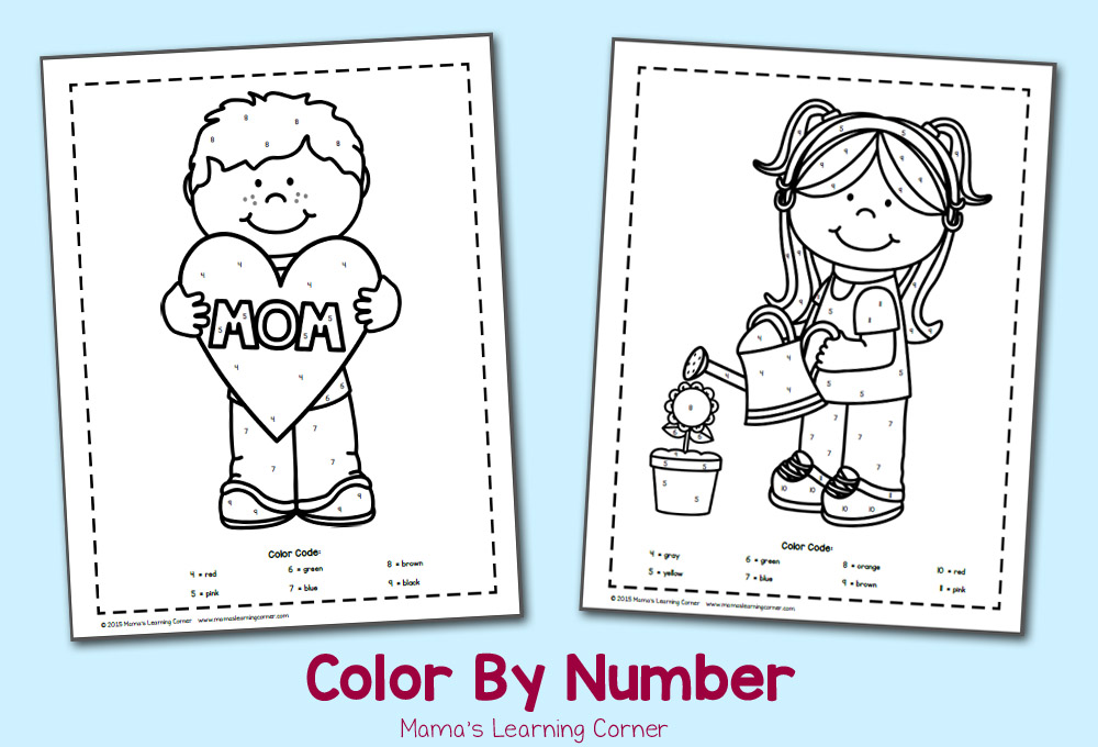 Color By Number Worksheets for May