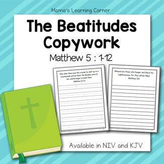 The Beatitudes Copwyork (Matthew 5)