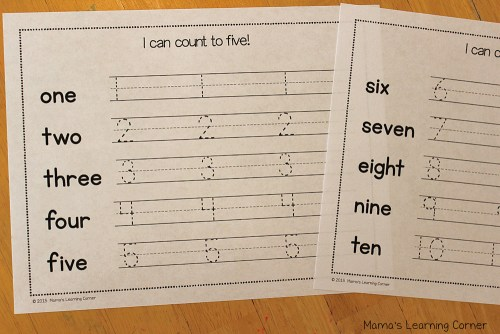 Preschool Calendar Notebook Count to Ten