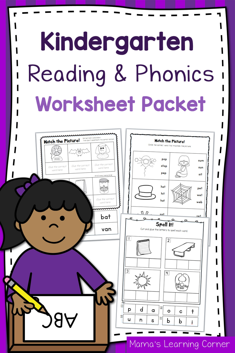 - Kindergarten Reading And Phonics Worksheet Packet - Mamas Learning