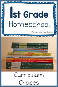 First Grade Curriculum Homeschool Plans for 2015-2016