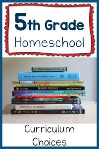 5th Grade Homeschool Curriculum Plans for 2015-2016