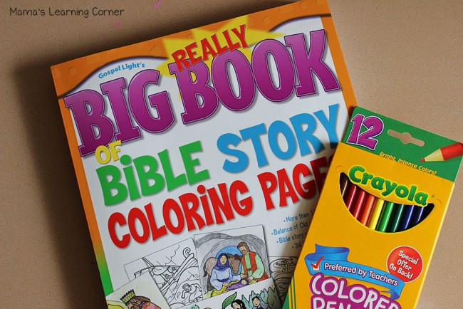 Early Kindergarten Curriculum: Bible Coloring Pages