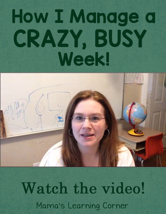 How I Manage a Crazy Busy Week - tips and strategies so I don't get cranky with a massive must-do list