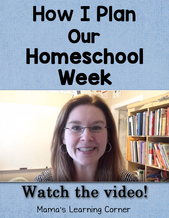 How I Plan Our Homeschool Week