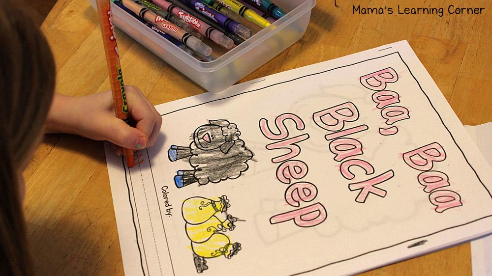 Baa Baa Black Sheep Coloring Book