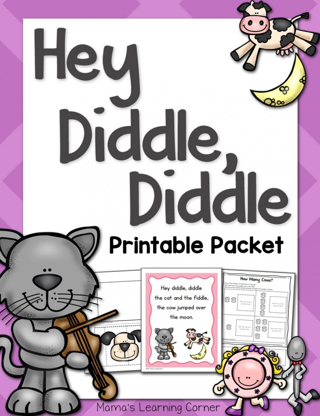 Hey Diddle Diddle Nursery Rhyme Packet