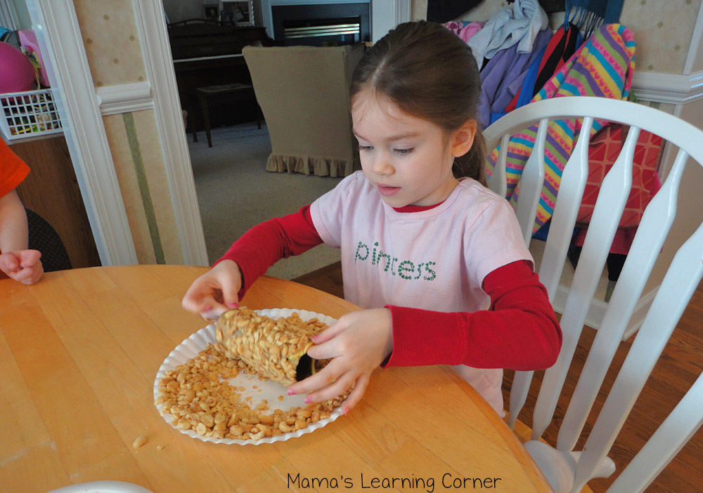 Peanut Butter Bird Feeders