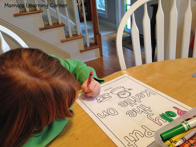 Polly Put the Kettle On Coloring Pages