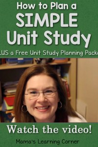 Simple Unit Study Free Planner PLUS a Video!