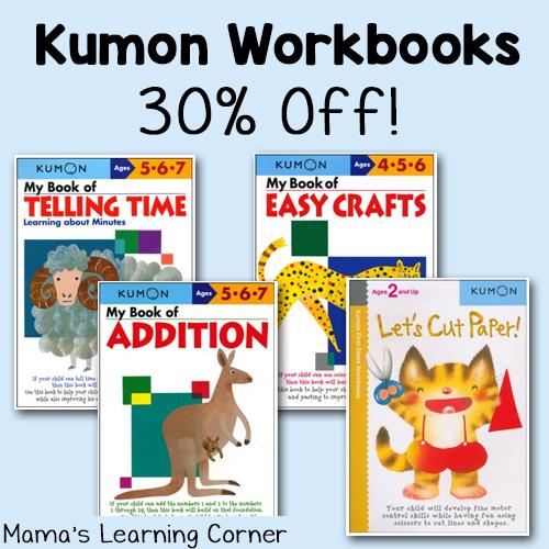 Kumon Worksbooks on Sale - 30% off!