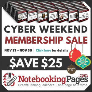 Notebooking Pages Sale - Cyber Weekend
