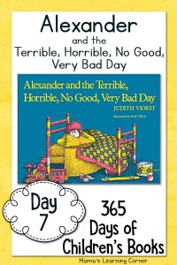 Children's Books - Alexander and the Terrible Horrible No Good Very Bad Day