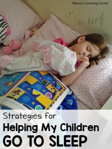 Strategies for Helping My Children Go To Sleep