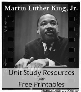 Martin Luther King Jr Free Printables