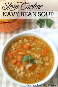 Slow Cooker Navy Bean Soup – and it's gluten free!