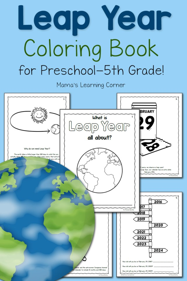 Printable Leap Year Coloring Book - for Preschool to 5th ...
