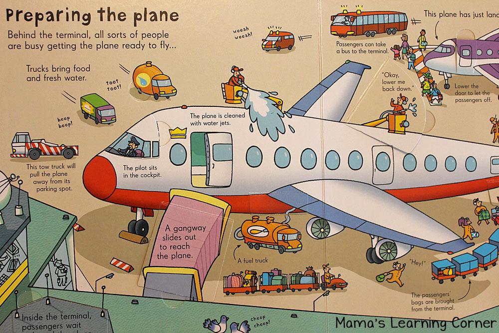 Children's Books - Look Inside an Airport Book