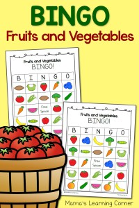 Fruits and Vegetables BINGO!