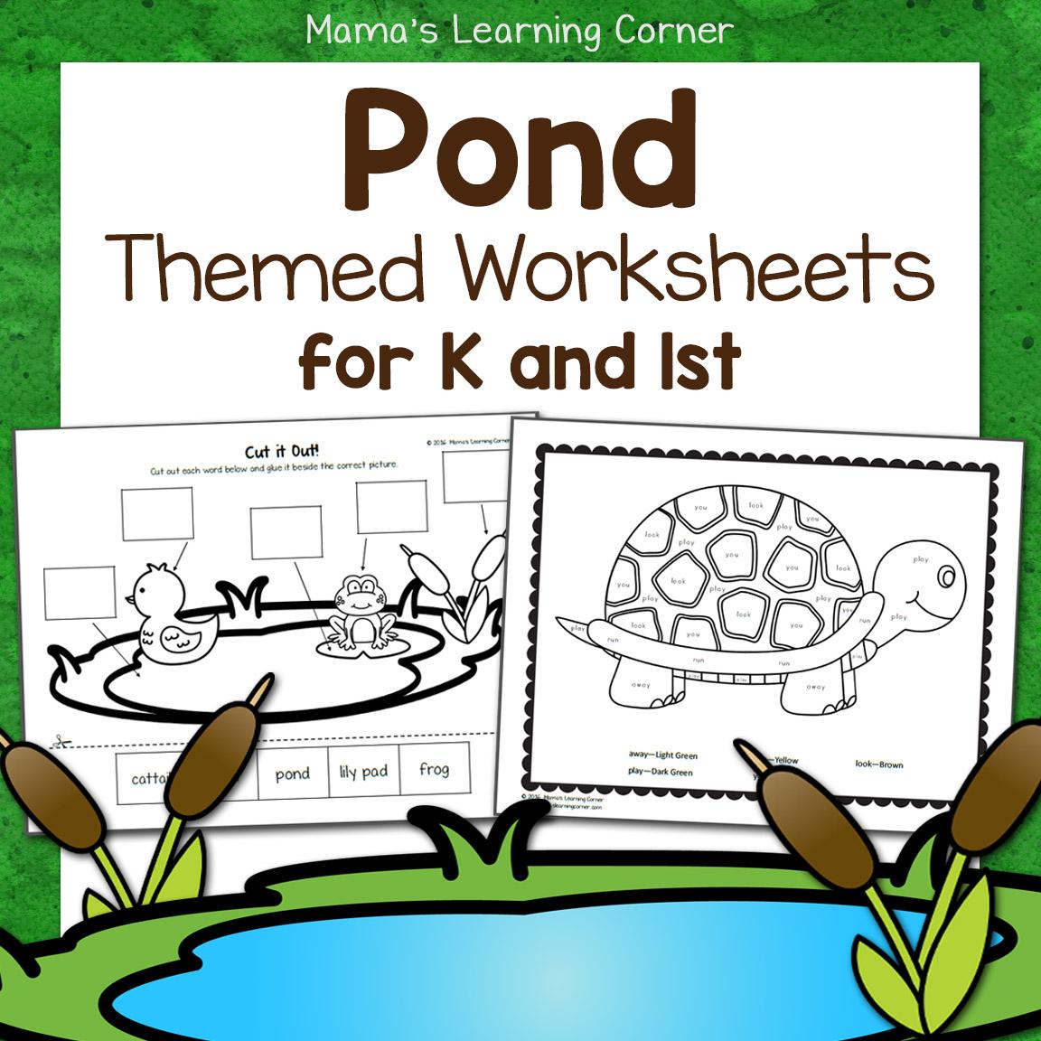 Pond Worksheets For Kindergarten And First Grade