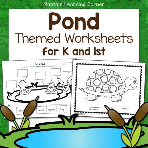 Pond Worksheets for Kindergarten and First Grade