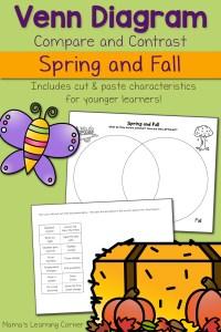 Spring and Fall Venn Diagram Worksheet
