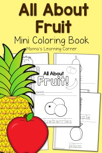 Fruit Coloring Pages - 17-page mini-coloring book!