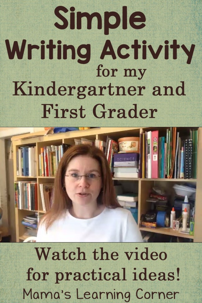 Simple Writing Activity for Kindergarten and First Grade