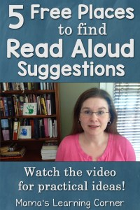 5 Free Places to Find Read Aloud Suggestions (with a video!)