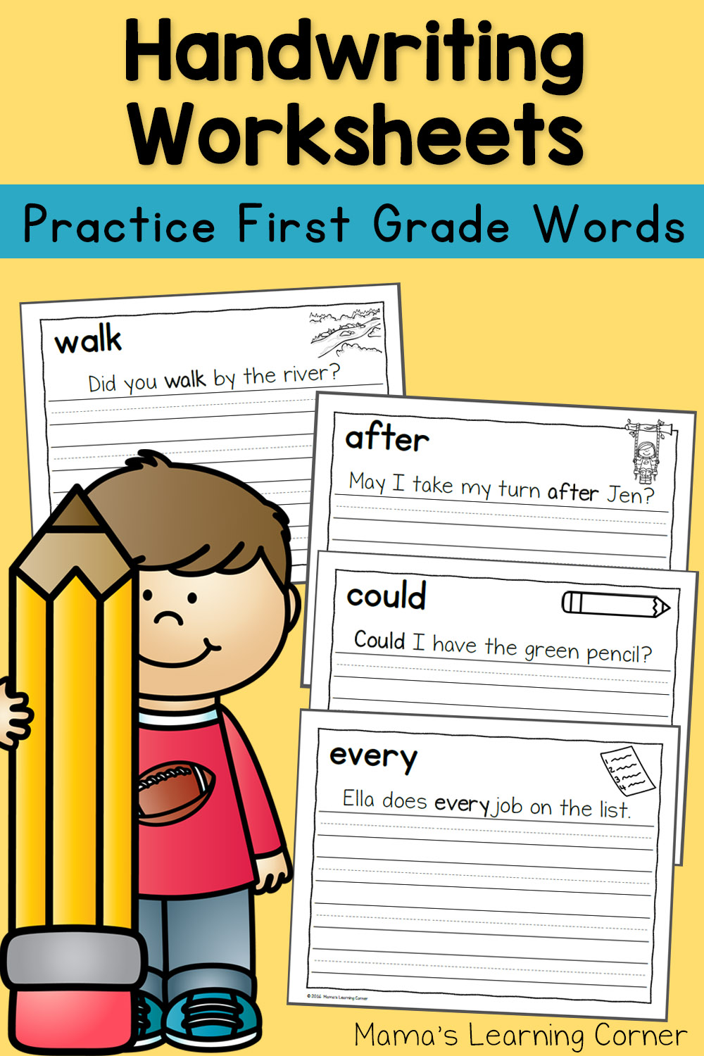 Handwriting Worksheets for Kids: Dolch First Grade Words ...
