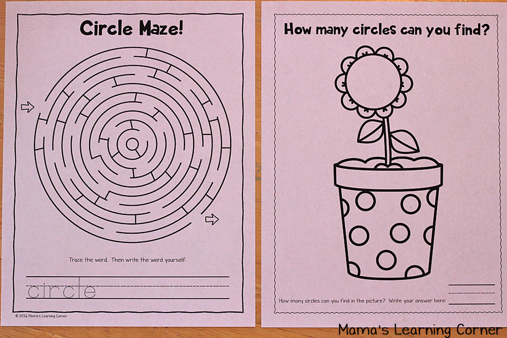 Circle Worksheets for Preschoolers and Kindergartners
