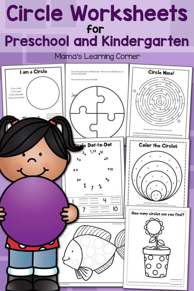 Circle Worksheets for Preschool and Kindergarten