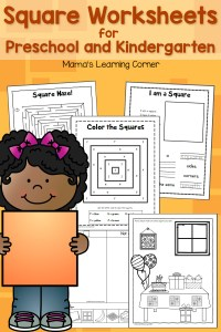Square Worksheets for Preschool and Kindergarten