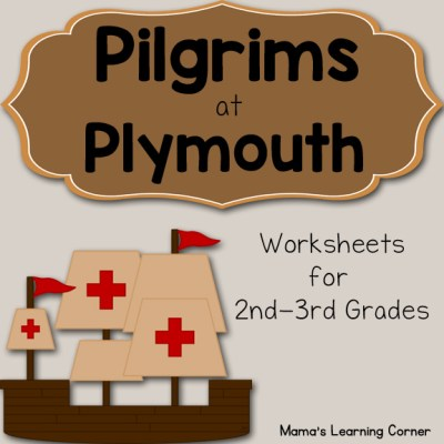 Pilgrims at Plymouth Worksheet Packet