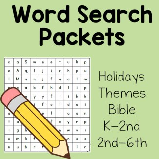 Word Search Packets