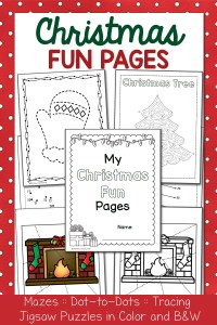 Christmas Fun Pages Packet – Dot-to-Dots, Mazes, Tracing!