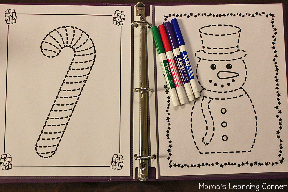 Christmas Fun Pages - Tracing Pages