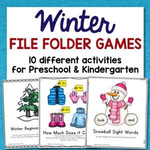 Winter File Folder Games