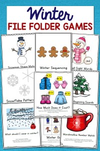 Low-Prep Winter File Folder Games – Set of 10 Activities!