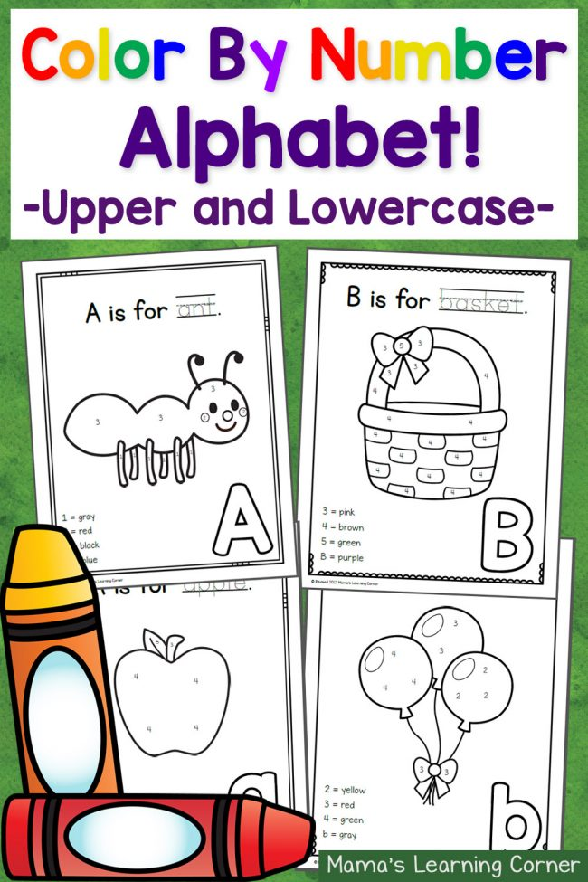 Color By Number ABCs: 50 worksheets with freebie included!