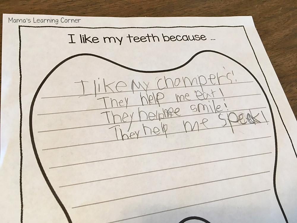 Teeth Printables I Like My Teeth
