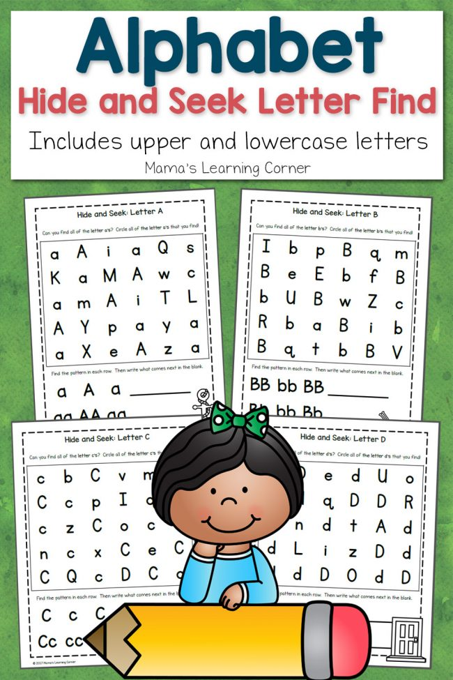 Hide and Seek Letter Find ABCs