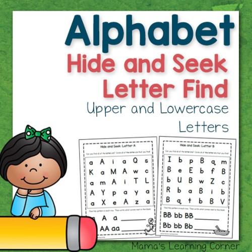 Alphabet Hide and Seek Letter Find