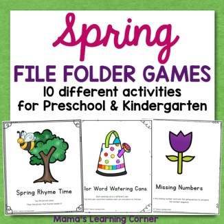 Spring File Folder Games