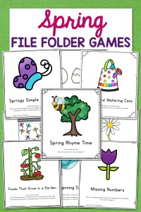 Spring File Folder Games – 10 different activities for Preschool and Kindergarten!