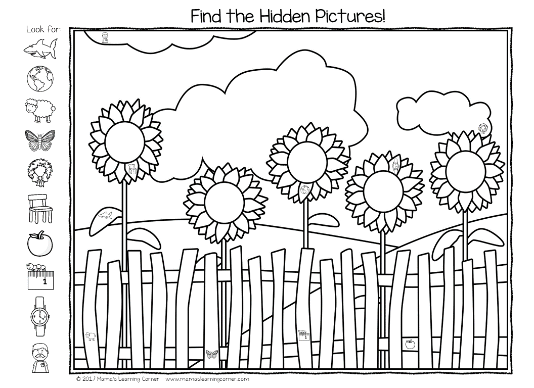Printable Seek And Find Worksheets