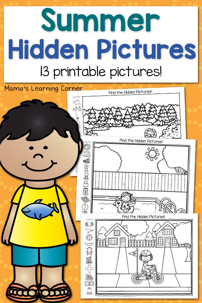 Summer Hidden Pictures Mamas Learning Corner